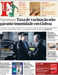 capa Público de 5 dezembro 2018