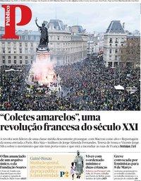 capa Público de 9 dezembro 2018