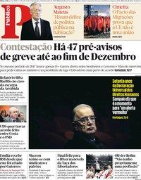 capa Público de 10 dezembro 2018