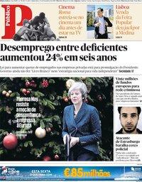 capa Público de 13 dezembro 2018