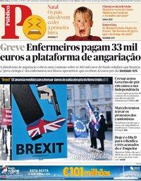 capa Público de 20 dezembro 2018