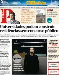 capa Público de 21 dezembro 2018