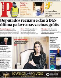 capa Público de 22 dezembro 2018