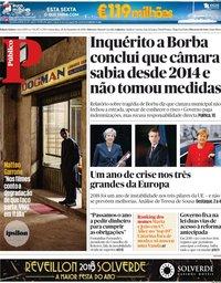 capa Público de 28 dezembro 2018