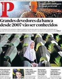capa Público de 31 dezembro 2018