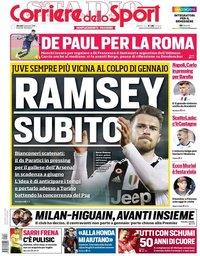 capa Corriere dello Sport de 3 janeiro 2019