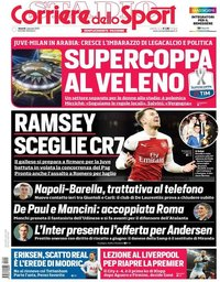 capa Corriere dello Sport de 4 janeiro 2019
