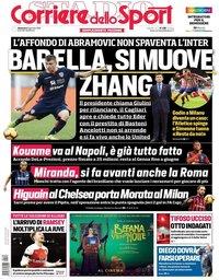 capa Corriere dello Sport de 6 janeiro 2019