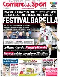 capa Corriere dello Sport de 7 janeiro 2019