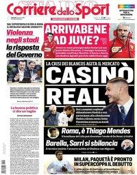 capa Corriere dello Sport de 8 janeiro 2019