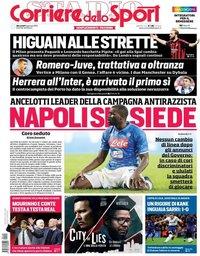 capa Corriere dello Sport de 9 janeiro 2019