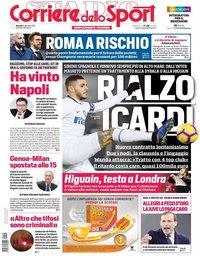 capa Corriere dello Sport de 10 janeiro 2019