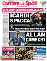capa Corriere dello Sport de 11 janeiro 2019