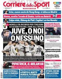 capa Corriere dello Sport de 13 janeiro 2019