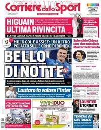 capa Corriere dello Sport de 14 janeiro 2019