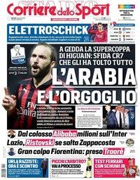 capa Corriere dello Sport de 15 janeiro 2019