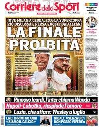 capa Corriere dello Sport de 16 janeiro 2019
