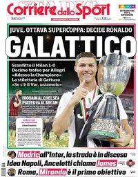 capa Corriere dello Sport de 17 janeiro 2019