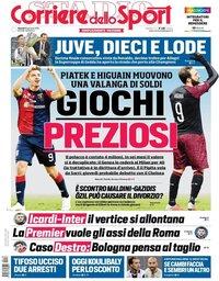 capa Corriere dello Sport de 18 janeiro 2019