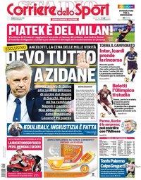 capa Corriere dello Sport de 19 janeiro 2019