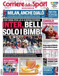 capa Corriere dello Sport de 20 janeiro 2019