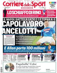 capa Corriere dello Sport de 21 janeiro 2019
