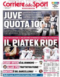 capa Corriere dello Sport de 22 janeiro 2019