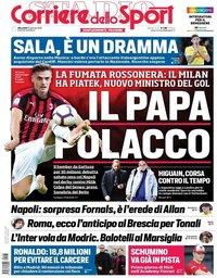 capa Corriere dello Sport de 23 janeiro 2019