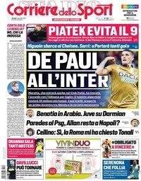 capa Corriere dello Sport de 24 janeiro 2019