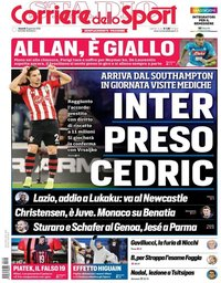 capa Corriere dello Sport de 25 janeiro 2019