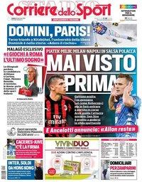 capa Corriere dello Sport de 26 janeiro 2019