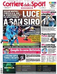 capa Corriere dello Sport de 27 janeiro 2019