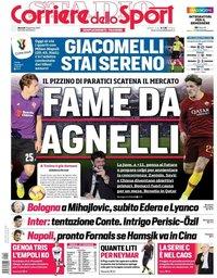 capa Corriere dello Sport de 29 janeiro 2019