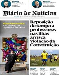 capa Diário de Notícias de 3 janeiro 2019
