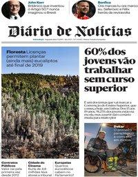 capa Diário de Notícias de 7 janeiro 2019