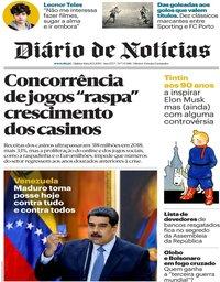 capa Diário de Notícias de 10 janeiro 2019