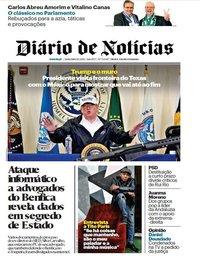 capa Diário de Notícias de 11 janeiro 2019