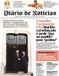 capa Diário de Notícias de 18 janeiro 2019