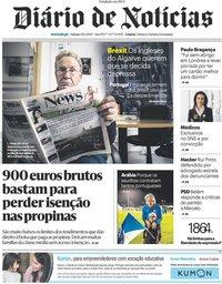 capa Diário de Notícias de 20 janeiro 2019