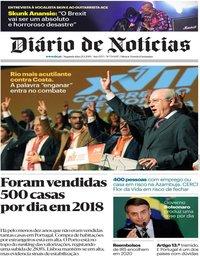 capa Diário de Notícias de 21 janeiro 2019