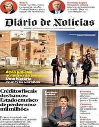 capa Diário de Notícias de 22 janeiro 2019