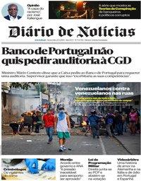 capa Diário de Notícias de 25 janeiro 2019