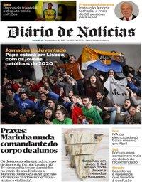 capa Diário de Notícias de 28 janeiro 2019