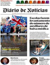 capa Diário de Notícias de 29 janeiro 2019