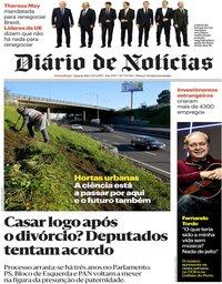 capa Diário de Notícias de 30 janeiro 2019