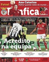 capa Jornal Benfica de 4 janeiro 2019