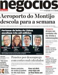 capa Jornal de Negócios de 3 janeiro 2019