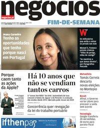 capa Jornal de Negócios de 4 janeiro 2019
