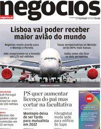 capa Jornal de Negócios de 8 janeiro 2019