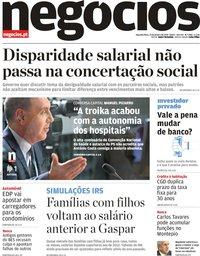capa Jornal de Negócios de 21 janeiro 2019